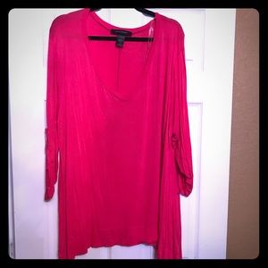 Pink pull over shirt